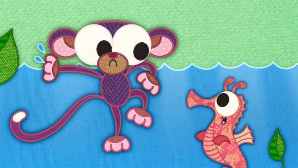 Wird der Affe eine Lösung finden und ihm helfen können? | Rechte: rbb/Studio FILM BILDER