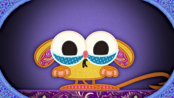 Der Koboldmaki auf meiner Schmusedecke hat ein Problem: Er möchte, dass jemand ihm ein Schlaflied singt. | Rechte: rbb/Studio FILM BILDER