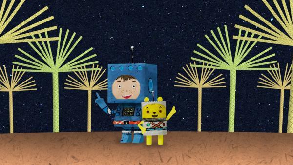 Zusammen sind Timmi und Teddy oberspitzespitze! | Rechte: MDR/rbb/NDR/MotionWorks