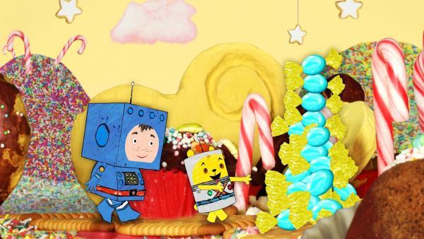 Timmi und Teddy auf dem Süßigkeitenplanet | Rechte: MDR/rbb/NDR/MotionWorks