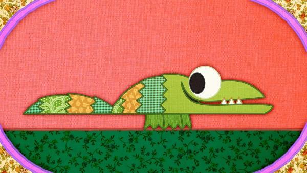Ein Krokodil auf der Schmusedecke | Rechte: rbb/Studio FILM BILDER