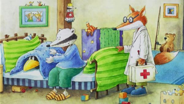 Der kleine Rabe Socke fürchtet sich vor dem Doktor. | Rechte: rbb/fischer tv + film