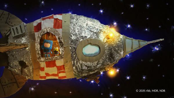 Timmi und Teddy in ihrer Rakete | Rechte: rbb/MDR/NDR/MotionWorks