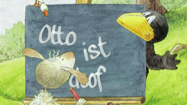 Der kleine Rabe Socke möchte auch Schreiben lernen. | Rechte: rbb/fischer tv + film