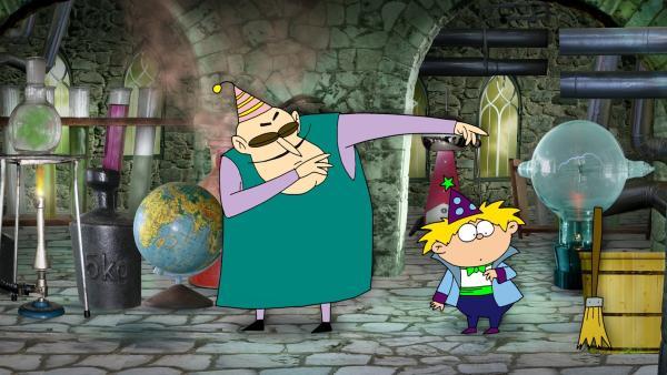 Kalli möchte zaubern können und, schwupps, wird Kalli-Zauberlehrling bei einem alten Hexenmeister. | Rechte: RBB/MDR/MotionWorks