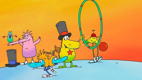 Molly und die Monsterkinder spielen Zirkus. | Rechte: rbb/Alexandra Schatz Filmproduktion