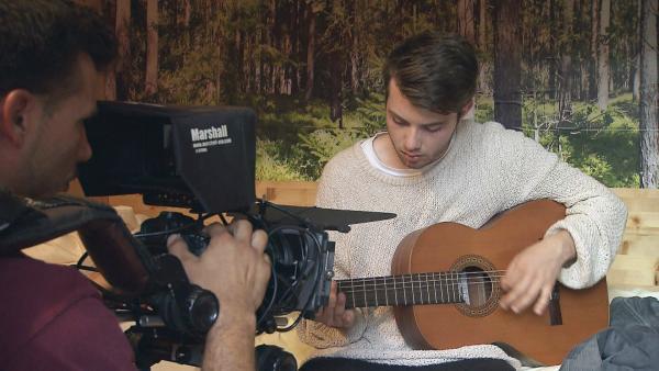 Tim (15) am Set | Rechte: RBB/Dokfilm