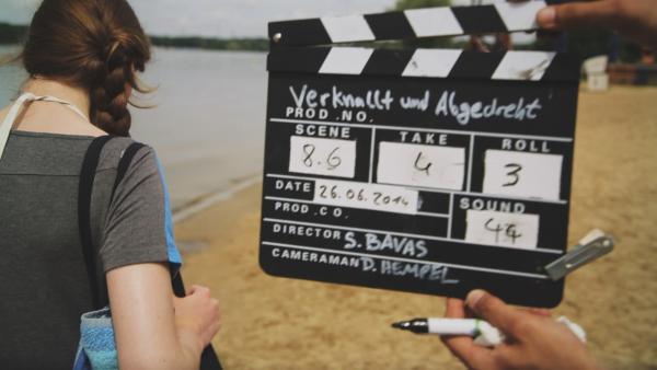 Heute wird im Strandbad Templin gedreht. | Rechte: RBB/Dokfilm