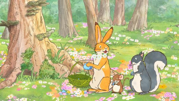 Der kleine braune Hase und die kleine Feldmaus gehen auf Schatzsuche. | Rechte: KiKA/SLR Productions Australia Pty.Ltd./Scrawl Studios Pte Ltd./hr/ARD
