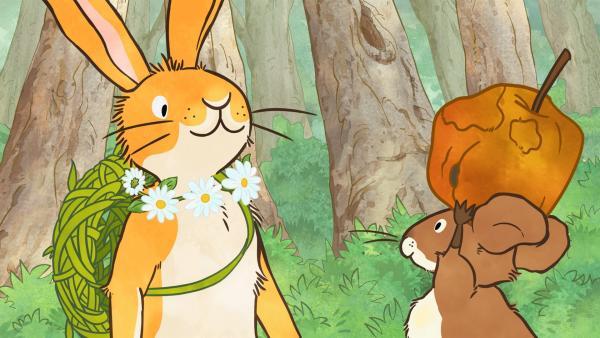 Der kleine braune Hase und die kleine Feldmaus sind auf Schatzsuche.   Rechte: KiKA/SLR Productions Australia Pty.Ltd./Scrawl Studios Pte Ltd./hr/ARD