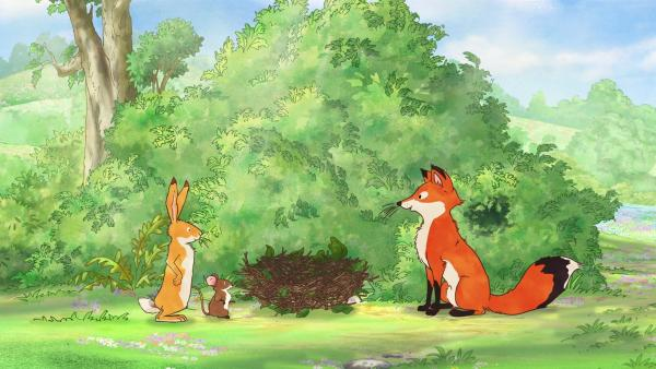 Ob der Fuchs das Nest als Geschenk haben möchte? | Rechte: KiKA/SLR Productions Australia Pty.Ltd./Scrawl Studios Pte Ltd./hr/ARD