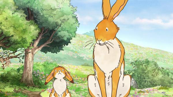 Der große braune Hase bringt dem kleinen braunen Hasen und seinen Freuden bei, wie man richtig Verstecken spielt. | Rechte: KiKA/SLR Productions Australia Pty.Ltd./Scrawl Studios Pte Ltd./hr/ARD