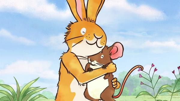 Der kleine braune Hase hat seine Freundin, die kleine Feldmaus sehr lieb. | Rechte: KiKA/SLR Productions Australia Pty.Ltd./Scrawl Studios Pte Ltd./hr/ARD