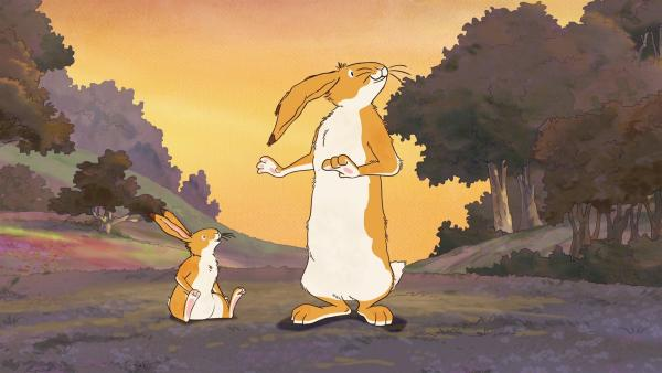 Der kleine braune Hase möchte auch endlich ein großer Hase sein. Und mutig! Denn der große braune Hase weiß so viel und kann so viel. | Rechte: KiKA/SLR Productions Australia Pty.Ltd./Scrawl Studios Pte Ltd./hr/ARD