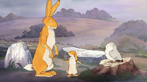 Der kleine braune Hase, weiß nicht, wie man sich eine Geschichte ausdenkt. | Rechte: KiKA/SLR Productions Australia Pty.Ltd./Scrawl Studios Pte Ltd./hr/ARD