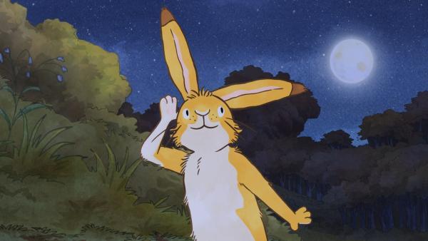 Der kleine braune Hase erkundet die Geräusche der Nacht. | Rechte: KiKA/SLR Productions Australia Pty.Ltd./Scrawl Studios Pte Ltd./hr/ARD