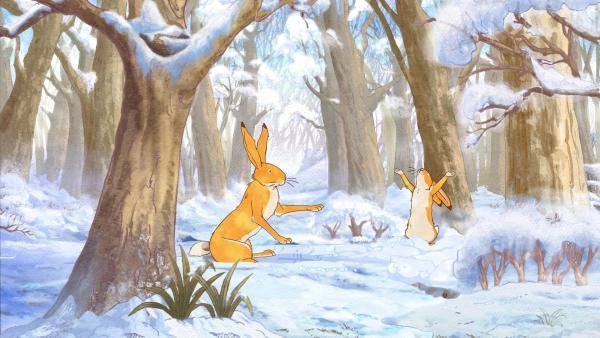 Eine eiskalte Nacht bricht herein. Am nächsten Morgen sieht die Welt völlig anders aus: Alles ist ganz weiß und mit Schnee bedeckt. | Rechte: KiKA/SLR Productions Australia Pty.Ltd./Scrawl Studios Pte Ltd./hr/ARD