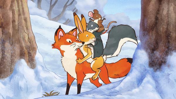 Die Freunde hatten heute viel Spaß beim Spielen im Schnee.   Rechte: KiKA/SLR Productions Australia Pty.Ltd./Scrawl Studios Pte Ltd./hr/ARD