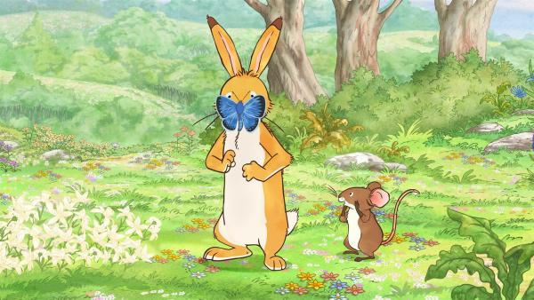 Als der kleine Hase und die kleine Feldmaus ihren Freund wiederfinden, erleben sie eine große Überraschung. | Rechte: KiKA/SLR Productions Australia Pty.Ltd./Scrawl Studios Pte Ltd./hr/ARD