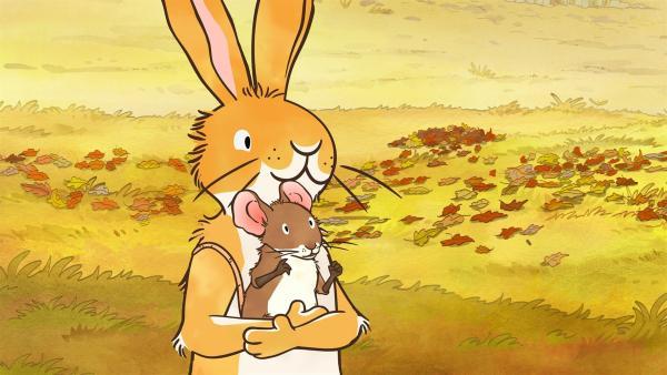 Der kleine Hase und die kleine Feldmaus spielen zusammen. | Rechte: KiKA/SLR Productions Australia Pty.Ltd./Scrawl Studios Pte Ltd./hr/ARD