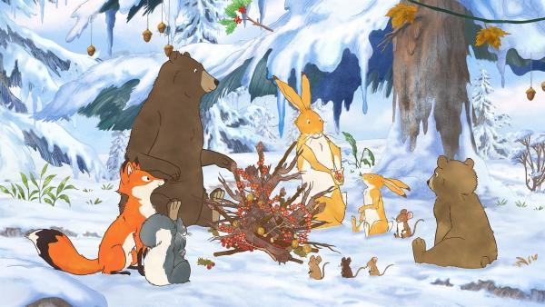 Nachdem alle wieder vereint sind, feiern die Freunde das Winterfest gemeinsam. | Rechte: KiKA/SLR Productions Australia Pty. Ltd. / Scrawl Studios Pte Ltd.
