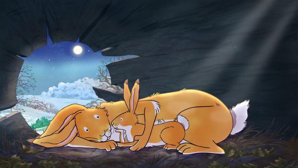 Vor lauter Vorfreude auf das Frühlingsfest kann der kleine braune Hase nicht einschlafen. | Rechte: KiKA/SLR Productions Australia Pty. Ltd. / Scrawl Studios Pte Ltd.