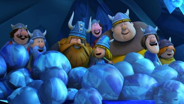 Die Eiskugeln sind voller gefrorener Stimmen und Worte. | Rechte: ZDF/studio100 media