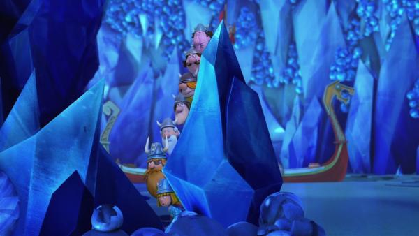 Die Höhle der gefrorenen Worte wird ausspioniert. | Rechte: ZDF/studio100 media
