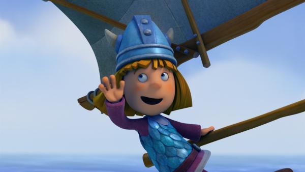 Wickie, der rasende Windsurfer!   Rechte: ZDF/studio100 media