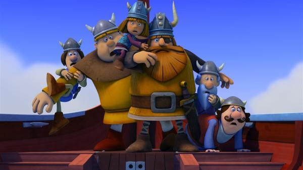 Snorre wird entführt. Die Wikinger sind entsetzt! | Rechte: ZDF/studio100media