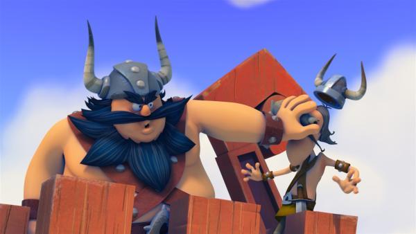 Der schreckliche Sven und Pokka sind nicht gerade beste Freunde. | Rechte: ZDF/studio100 media