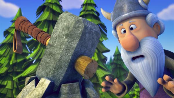 Soll das wirklich der Hammer des Gottes Thor sein? | Rechte: ZDF/studio100media