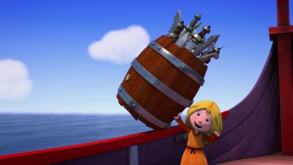 Ylvi macht den Piraten das Leben schwer. | Rechte: ZDF/studio100media