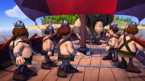 Überraschung! Jetzt geht's den Piraten an den Kragen. | Rechte: ZDF/studio100media
