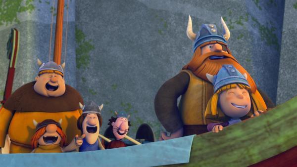 Natürlich haben die Wikinger am Ende wieder gut zu lachen. | Rechte: ZDF/studio100media
