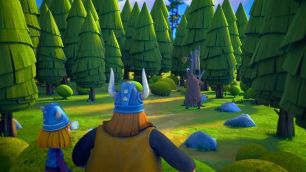 An einem wilden Bären kommt keiner so leicht vorbei.   Rechte: ZDF/studio100media