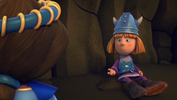 Wickie erklärt der Prinzessin seinen Plan. | Rechte: ZDF/studio100media