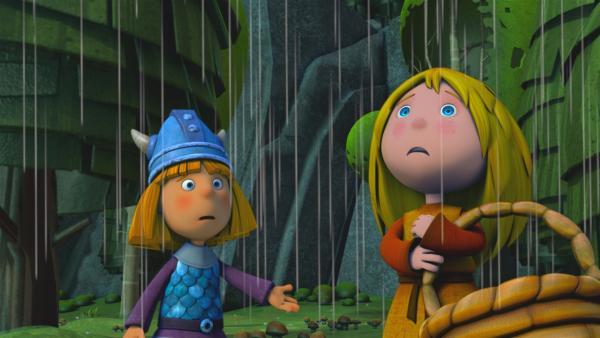 Oh nein. Regen! Nichts wie nach Hause! | Rechte: ZDF/studio100media