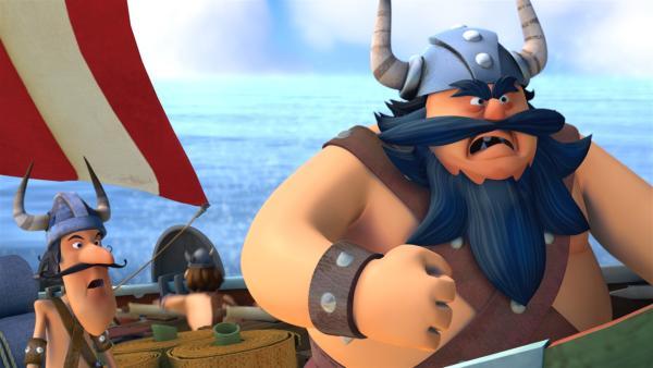 Wieder einmal versucht der schreckliche Sven seinen Erzfeind Halvar zu besiegen.   Rechte: ZDF/studio100media