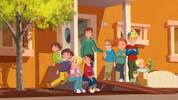 Jetzt sind sie vollzählig – die Kinder aus dem Möwenweg. | Rechte: ZDF/WunderWerk