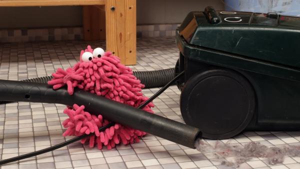 Mop verschwindet im Staubsaugerbeutel. | Rechte: NDR/Trikk17