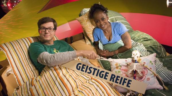 """""""Mit Hirn und Hand"""" -  Ralph und Shary haben ein neues Ah(a)-Erlebnis.   Rechte: WDR/Thorsten Schneider"""