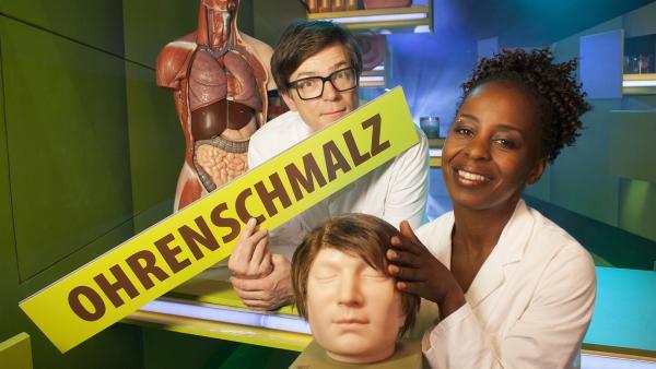 Beim Thema Ohrenschmalz finden Shary und Ralph interessante Fakten heraus. | Rechte: WDR/Thorsten Schneider