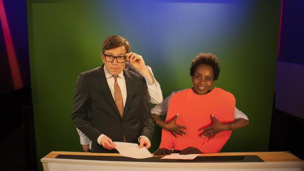 Herzlich willkommen zum Fadotawehe-Ereignis! Was sich dahinter verbirgt, erläutern Shary und Ralph heute Silbe für Silbe. | Rechte: WDR/Thorsten Schneider