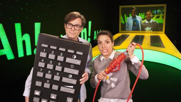 Clarissa und Ralph beschäftigen sich heute heute mit dem Thema: Unsichtbar und sichtbar. | Rechte: WDR/Thorsten Schneider