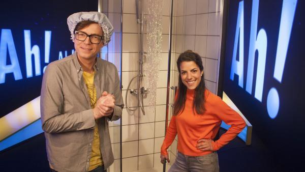 Clarissa und Ralph und ihre Erfahrungen beim Duschen | Rechte: WDR/Thorsten Schneider