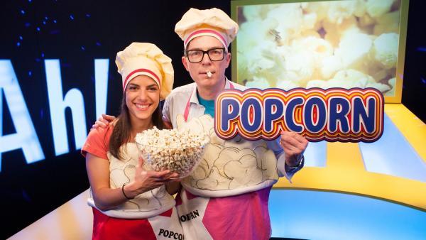 Clari und Ralph machen Popcorn. | Rechte: WDR/Thorsten Schneider