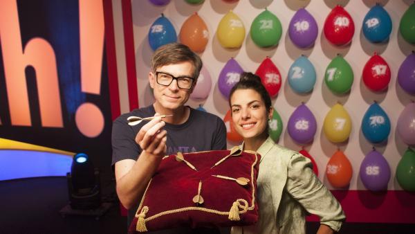 Clarissa und Ralph mit einem neuen Ah(a)-Erlebnis. | Rechte: WDR/Thorsten Schneider