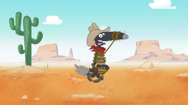 Auch Cowboy sein will gelernt sein. | Rechte: KiKA/Samka Productions