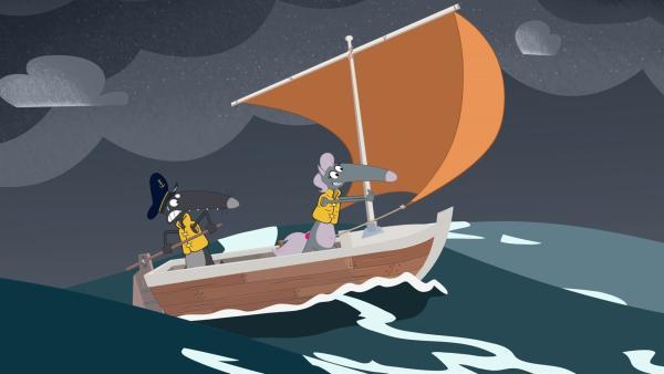 Wolfine genießt das Abenteuer - im Gegensatz zu Wolf. | Rechte: KiKA/Samka Productions